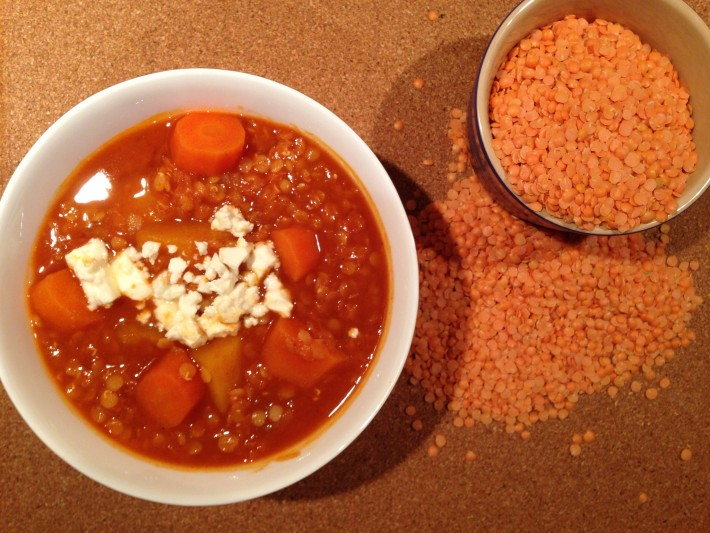 Warming Sweet Potato and Lentil Stew
