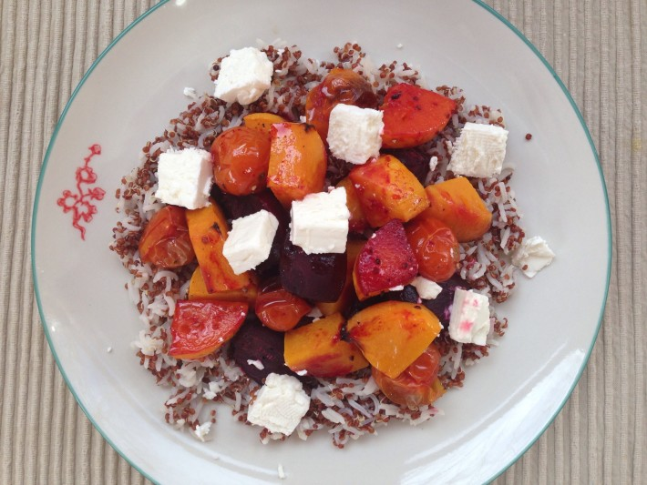 Roasted Beetroot and Squash with Quinoa